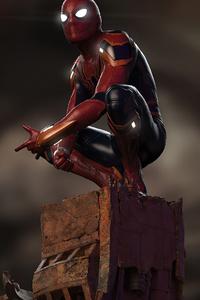 Spider Man Sitting Down