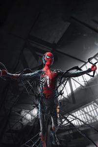 1440x2960 Spider Man Turning Into Venom