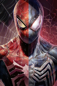 640x1136 Spider Man Two Face