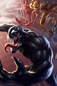 720x1280 Spider Man Unlimited Venom Carnage 4k