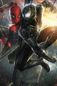 1280x2120 Spider Man V Venom