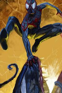 1280x2120 Spider Man V Venom 4k