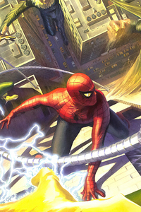 720x1280 Spider Man Vs Sinister Six 4k