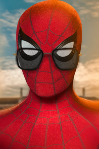 1125x2436 Spider Man Wearing Tony Glasses