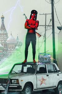 1242x2688 Spider Slav Concept Poster 4k