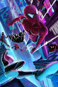 1242x2688 Spider Verse Gang