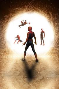 640x960 Spider Verse Mcu Comic Art 4k