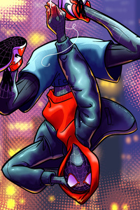 Spider Verse Miles Morales Art
