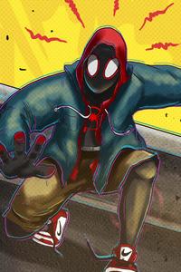 Spider Verse Miles Morales Artwork