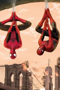 2160x3840 Spider Verse Tobey Maguire Tom Holland Andrew Garfield
