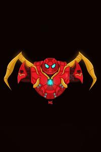 1080x2160 Spiderbuster Minimal 5k