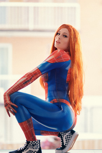 360x640 Spidergirl Cosplay 4k