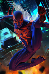 1080x1920 Spiderman 2099 4k Art