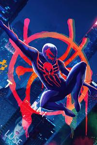 480x800 Spiderman 2099 In Multiverse 4k