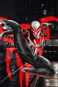 Spiderman 2099 White Neon
