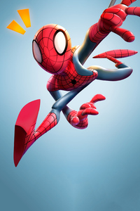 480x800 Spiderman 3d Fan Art 4k