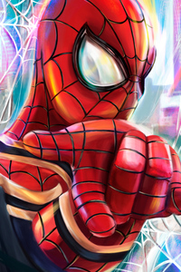 Spiderman 4k Paint Art