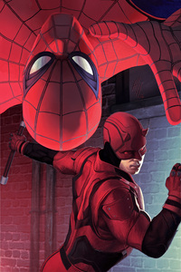 Spiderman And Daredevil Artwork