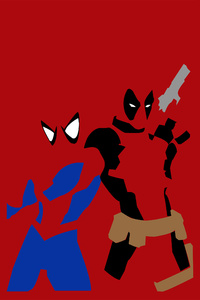 720x1280 Spiderman And Deadpool Minimalism
