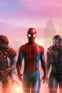 720x1280 Spiderman And His Team