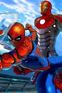 Spiderman And Iron Man Art