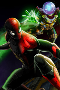 Spiderman And Mysterio Artwork