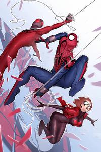 Spiderman And Spiderman 2099 Art