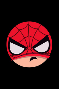 1440x2960 Spiderman Angry Minimal Badge 5k