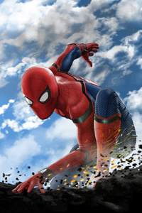 1080x2160 Spiderman Art New 2019