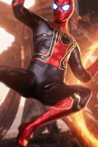 640x960 Spiderman Avengers Infinitywar