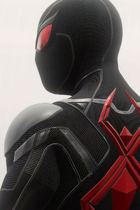 2160x3840 Spiderman Black And Red Suit 4k