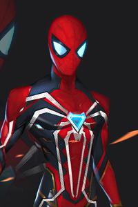480x800 Spiderman Black Suit 5k