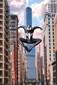 Spiderman Black Suti In City 4k