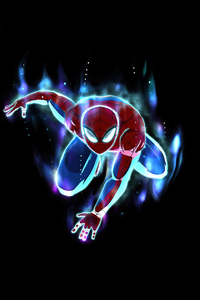 Spiderman Blue Waves 4k