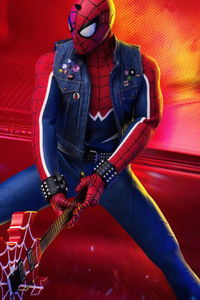 Spiderman Breaking Guitar
