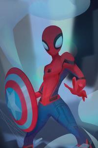 Spiderman Captain Shield
