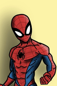 240x320 Spiderman Cartoonic Art