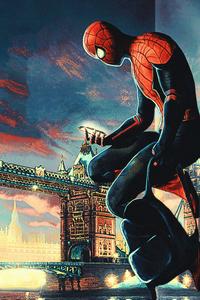 Spiderman Checking Phone