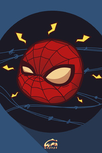 720x1280 Spiderman Chibi Marvel Heroes