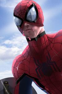 Spiderman Chilling