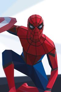 Spiderman Civil War Low Poly 4k