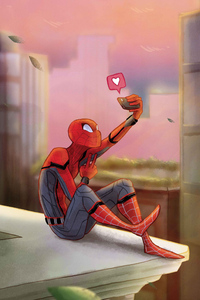 Spiderman Clicking Selfie