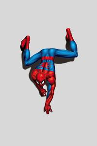 Spiderman Climbing Down Minimal 4k