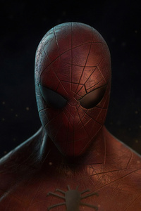 Spiderman Closeup 4k Artwork