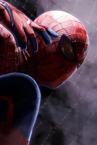 Spiderman Closeup Art 4k