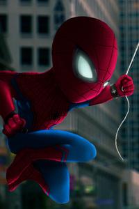 Spiderman Closeup Art
