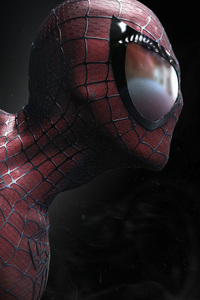 480x854 Spiderman Closeup Artwork