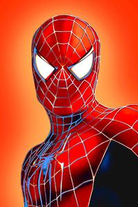 Spiderman Closeup Face