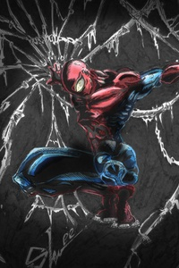 480x800 Spiderman Comic Art