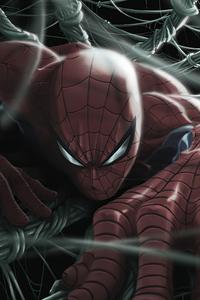 360x640 Spiderman Comic Painting 4k